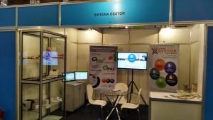 Softwares da Sistema Gestor em exposição na Feira do Empreendedor.